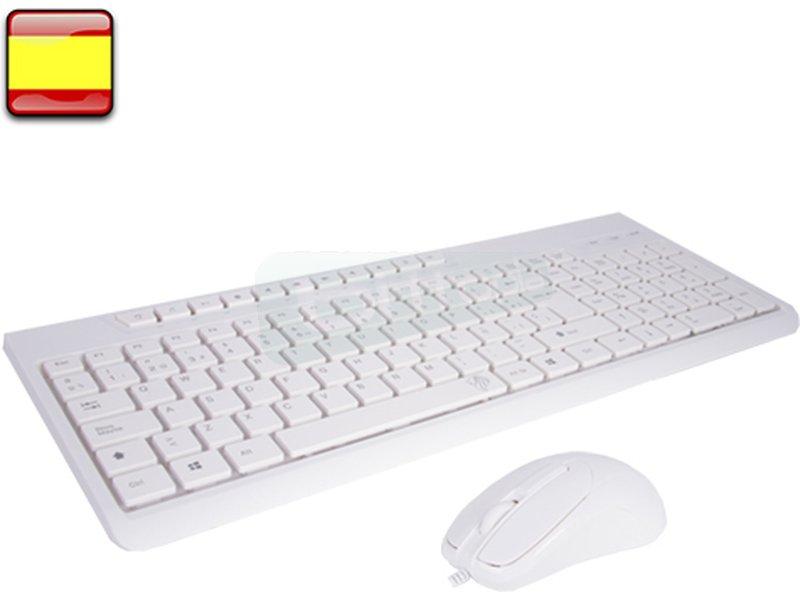 BL Kit teclado+raton Blanco Office multimedia BL-1901 - Este es el kit de teclado + ratón que necesitas. Un teclado y un mouse polivalentes, ideales para casa o para el trabajo.