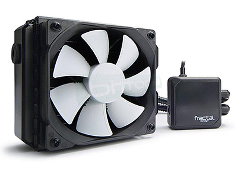 Fractal Design Kelvin T12 - Sistema de refrigeración líquida completo compatible con Intel 775/115X/1366/2011(-v3) y AM2(+)/AM3(3+)/FM1/FM2(+). Incluye 1 ventilador de 120mm. Nivel sonoro 32.2dBA. Flujo de aire 87.6CFM.