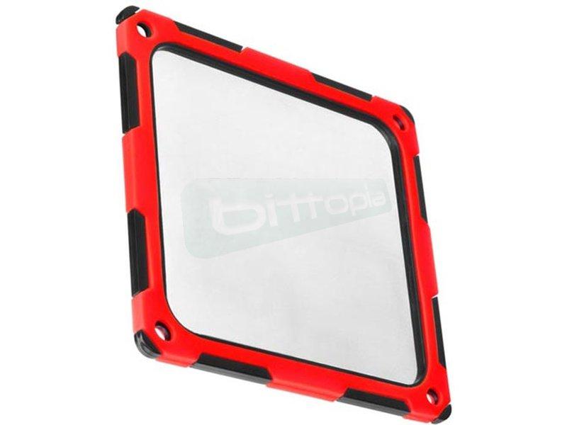 SilverStone FF124BR-E. Filtro ultrafino con reductor de ruido para ventilador Rojo - Filtro fabricado en silicona que absorbe vibraciones para una reducción del ruido de hasta 4 dBA. En color rojo.