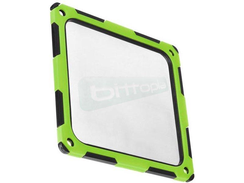 SilverStone FF124BV-E. Filtro ultrafino con reductor de ruido para ventilador verde - Filtro fabricado en silicona que absorbe vibraciones para una reducción del ruido de hasta 4 dBA. En color verde.