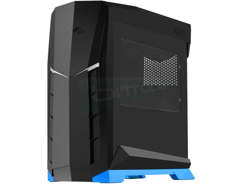 SilverStone Raven RVX01BA-W Negro y azul con Ventana