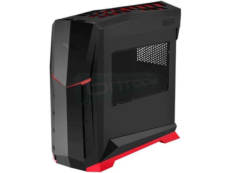 SilverStone Raven RVX01BR-W Negro y rojo con Ventana - Caja Semitorre en color negro con detalles en rojo. Incluye lateral con ventana. Conexiones superiores: 2 x USB 3.0, 1 x Audio y 1 x Mic. 7 PCI. 4 Bahías internas 3.5/2.5.