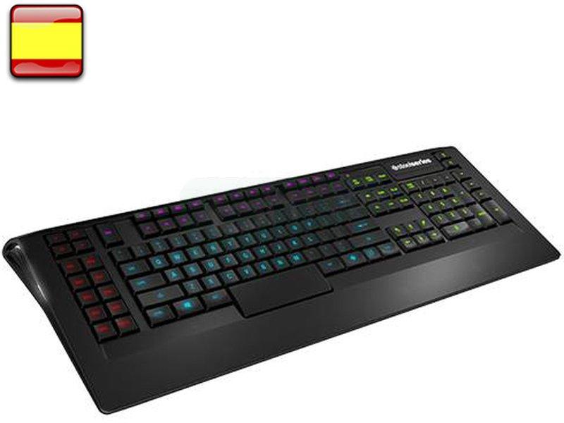 SteelSeries Apex Keyboard - Teclado - APEX, el teclado de perfil bajo del prestigioso fabricante SteelSeries, en versión española. Con teclas diseñadas especialmente elevadas para acceder con mayor rapidez a las macros hace de este teclado la herramienta perfecta para gamers.
