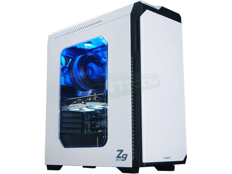 Zalman Z9 NEO Silent USB 3.0 Blanca - Zalman Z9 NEO White es una caja de PC con un flujo de aire optimizado, diseño elegante de puerta frontal y ventana lateral transparente.