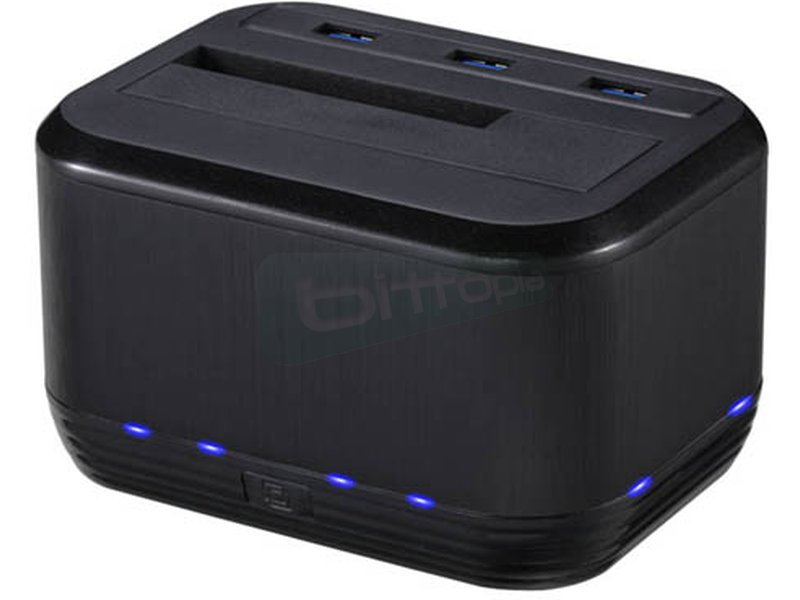 Tooq TQDSHC-101B. Docking USB 3.0 + cargador - Docking para disco SATA I/II/III de 3.5 o 2.5. Conexión USB 3.0. Permite hacer copias de seguridad tan sólo con pulsar un botón.