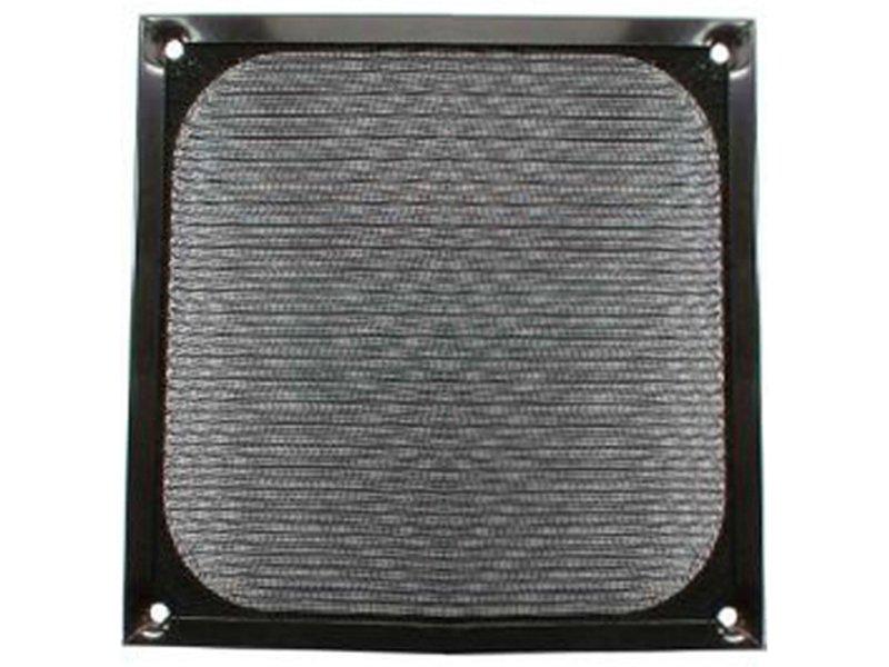 InLine 33370S. Rejilla de aluminnio 120x120mm Negro - Rejilla de aluminio para ventilador de 120x120mm en color negro.