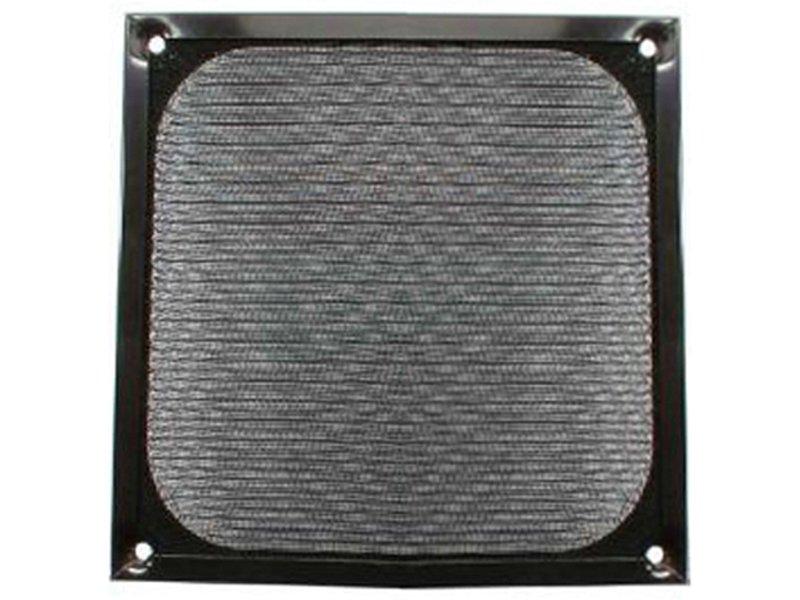 InLine 33372S. Rejilla de aluminio 140x140mm Negra