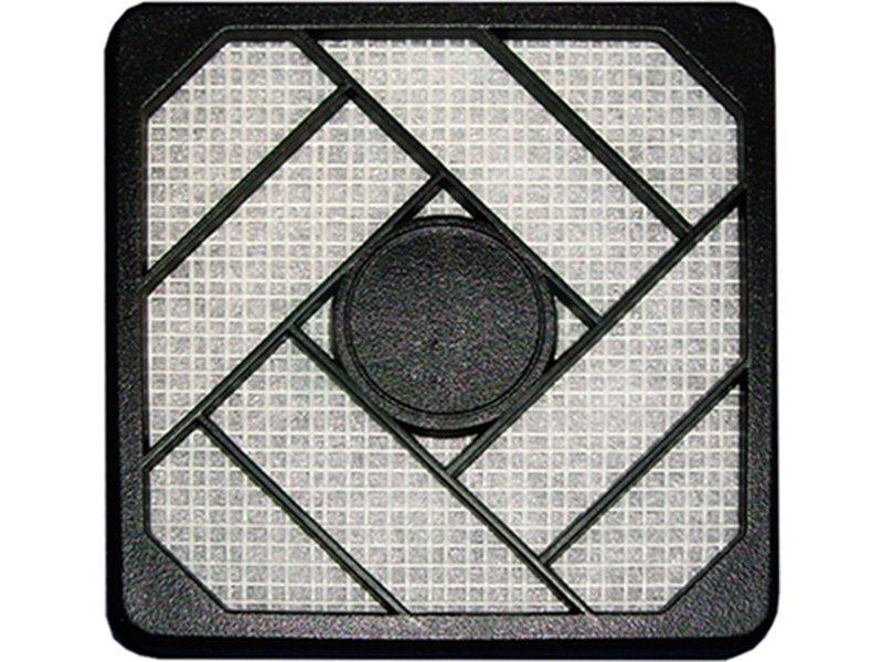 InLine 33478. Filtro de plástico 80 x 80mm Negro - Filtro de plástico para ventilador de 80x80mm en color negro.