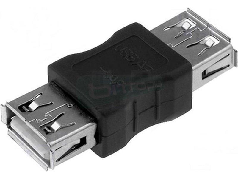 Nanocable 10.02.0001. Adaptador USB. TIPO A/H-A/H. - Adaptador USB 2.0 con conector tipo A hembra en ambos extremos.