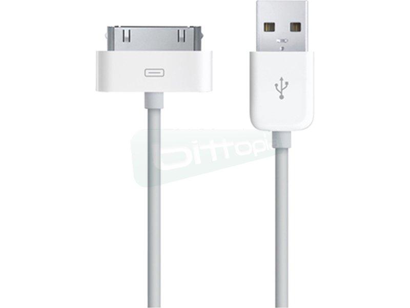 Nanocable 10.10.0101. Cable IPOD a USB 2.0. IPOD-USB A/M. 0.8m - Cable IPOD con conector IPOD 30 pin macho en un extremo y USB 2.0 tipo A macho en el otro.