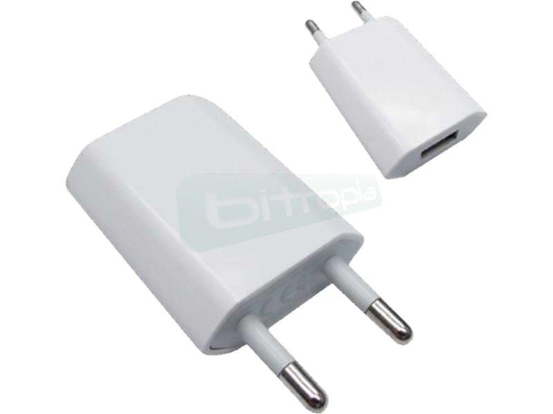 Mini cargador USB para iPod iPhone.5V-1A. Blanco - Mini cargador USB para cargar IPHONE y IPOD.