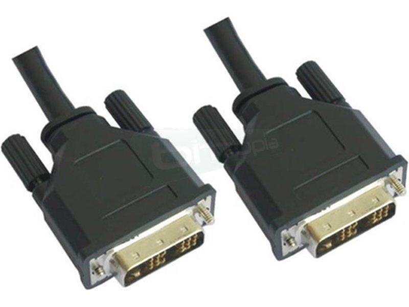 Cable DVI Single Link 18+1. M-M. 3.0m - Cable DVI a DVI con conector tipo 18+1 macho en ambos extremos.