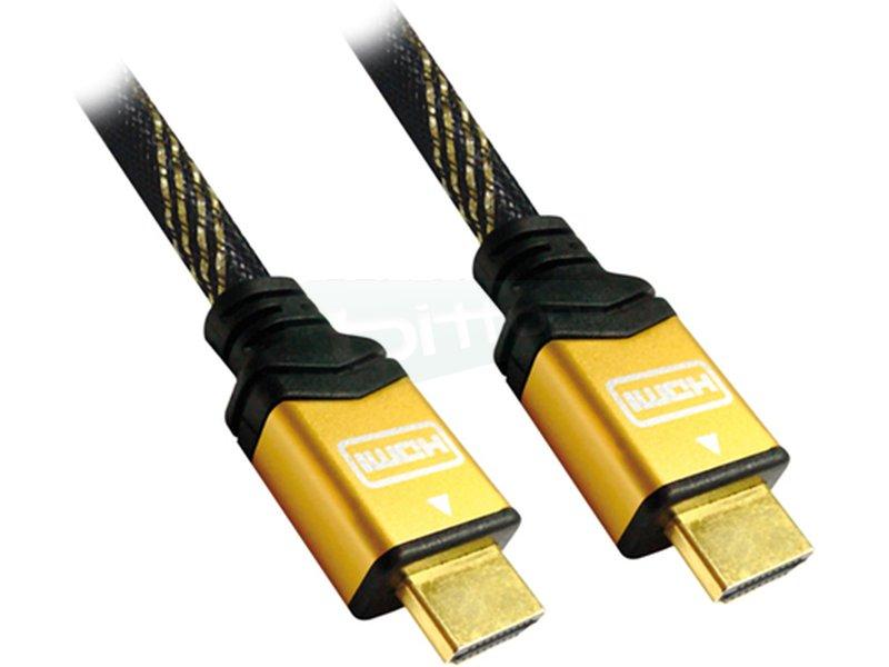 Cable HDMI V1.4 (Alta velocidad / HEC). A/M-A/M. ORO. 1.8m - Cable HDMI alta velocidad con Ethernet (V1.4) con conector tipo A macho en ambos extremos.
