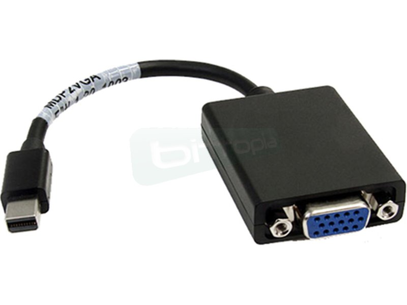 Conversor Mini DP a SVGA. Mini DP/M-SVGA/H. 15cm. Negro - Conversor mini DP a SVGA con conector mini DP (20 Pines) macho en un extremo y SVGA hdb15 hembra en el otro.