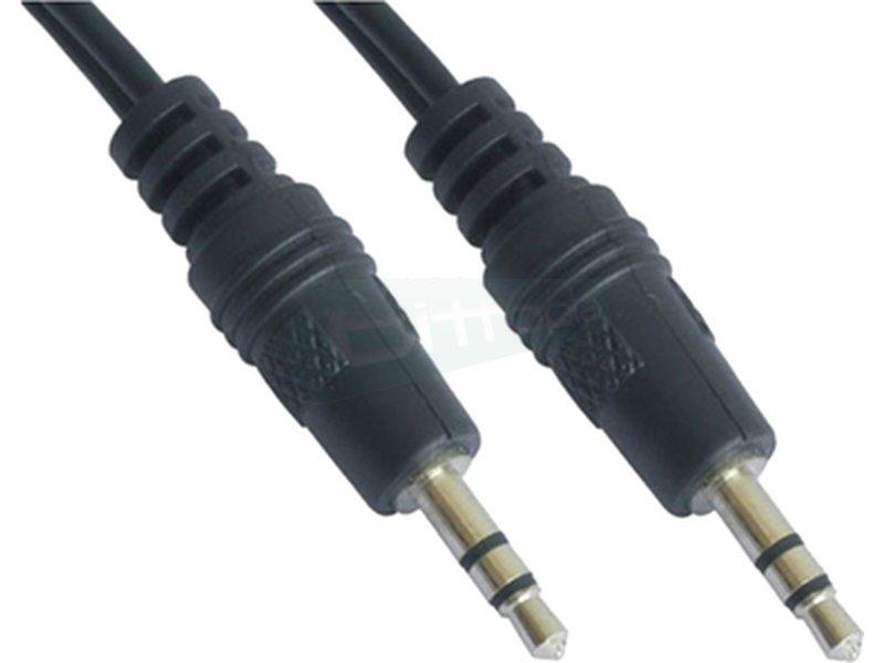 """Cable audio estéreo. 3.5/M-3.5/M. 0.3m - Cable audio estéreo con conector tipo Jack 3.5"""" macho en ambos extremos."""