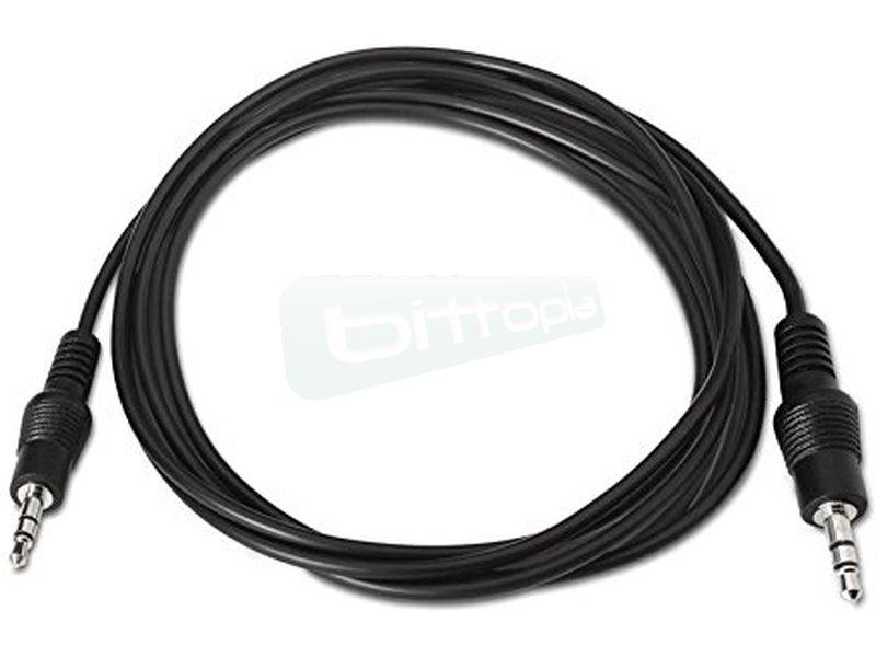 """Cable audio estéreo. 3.5/M-3.5/M. 5.0m - Cable audio estéreo con conector tipo Jack 3.5"""" macho en ambos extremos."""