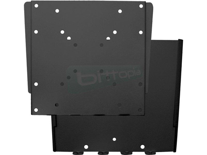 Tooq Soporte fijo para un monitor. De 10 hasta 32. - Soporte pequeño y ultra compacto que permite fijar su TV/monitor a una distancia de la pared de 18 mm.