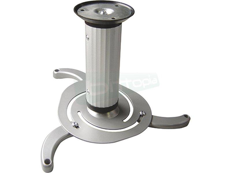 Tooq Soporte techo giratorio para proyector. Plata - Soporte metálico giratorio e inclinable para proyector. Carga Máxima: 10kg.