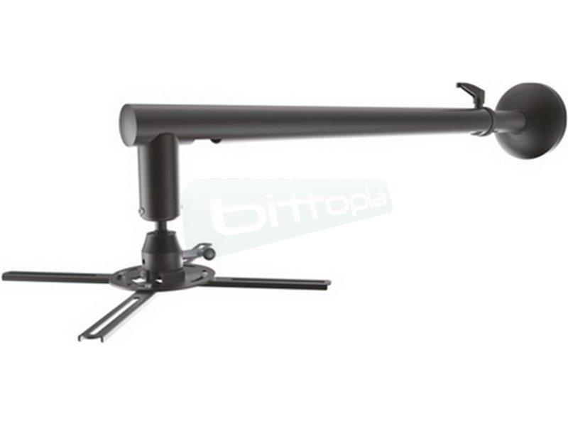 Tooq Soporte techo para proyector. Negro. - Soporte metálico de pared giratorio e inclinable para proyector. Carga Máxima 30kg.