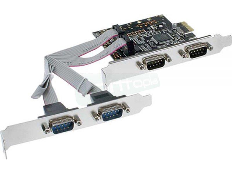 InLine 76623C. Tarjeta PCIeX1 4x RS232 9-Pines - Controladora PCI-Express x1 con 4 RS232 de 9-Pines.