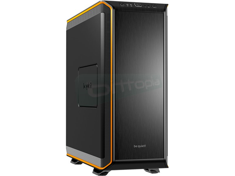 be quiet! Dark Base 900 Naranja - Caja Torre en color Negro/Naranja. Conexiones: 2 x USB 3.0. 2 x USB 2.0. AudioHD. 8 PCI. 2 bahías externas 5.25. 7 bahías internas 3.5. 1 bahías internas 2.5.