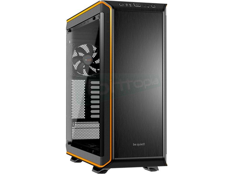 be quiet! Dark Base PRO 900 Naranja - Caja Torre en color Negro/Naranja. Incluye lateral con ventana. Conexiones: 2 x USB 3.0. 2 x USB 2.0. AudioHD. 8 PCI. 2 bahías externas 5.25. 7 bahías internas 3.5. 1 bahías internas 2.5.