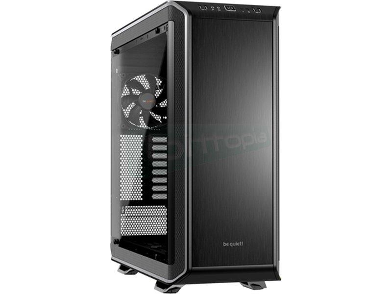 be quiet! Dark Base PRO 900 Plata - Caja Torre en color Negro/Plata. Incluye lateral con ventana. Conexiones: 2 x USB 3.0. 2 x USB 2.0. AudioHD. 8 PCI. 2 bahías externas 5.25. 7 bahías internas 3.5. 1 bahías internas 2.5.